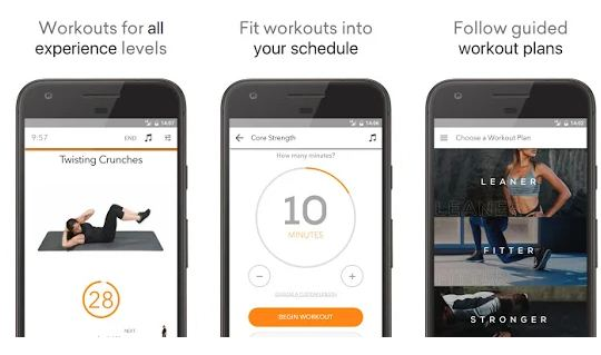 sworkit best fitness app for android 2019