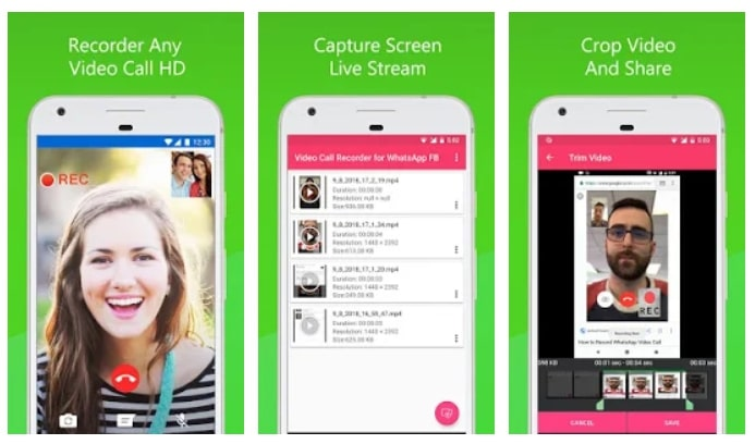 how to record whatsapp video call on android