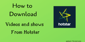 hot to download movies from hotstar